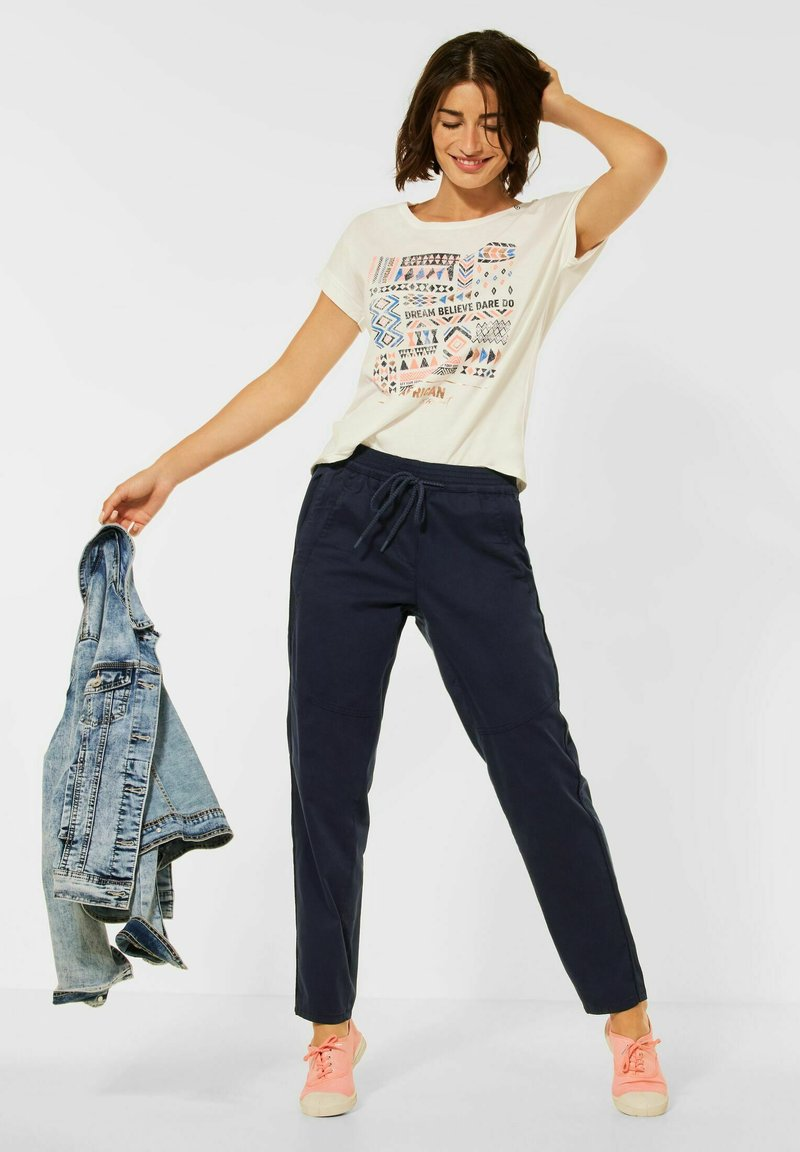 Cecil - CASUAL FIT HOSE - Trousers - blau