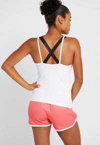 adidas Performance - STRAP TANK - Topper - white/black - 2