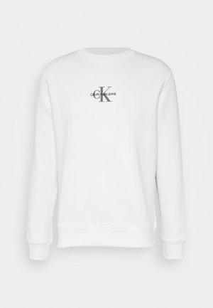 CHEST PRINT CREW NECK - Felpa - bright white
