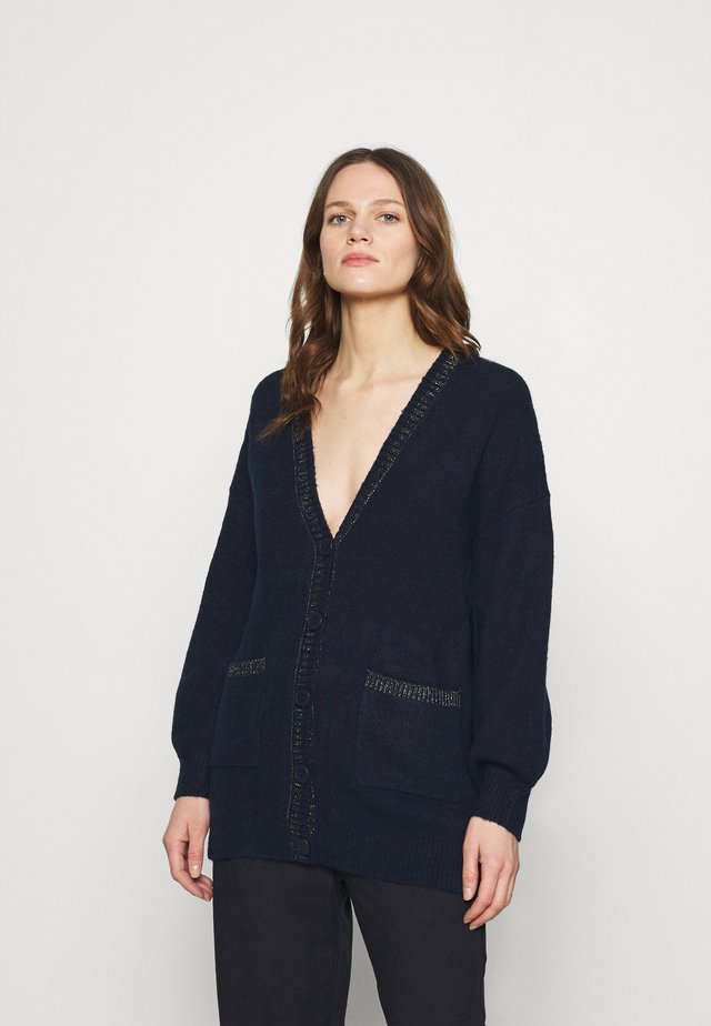 LUREX TRIM OVERSIZED  - Vest - navy