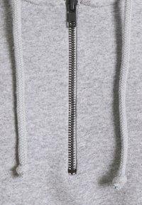 Even&Odd - OVERSIZED HALF ZIP SWEAT  - Hoodie - mottled light grey - 6