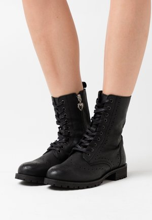 AMY BROGUE BOOT - Lace-up ankle boots - black