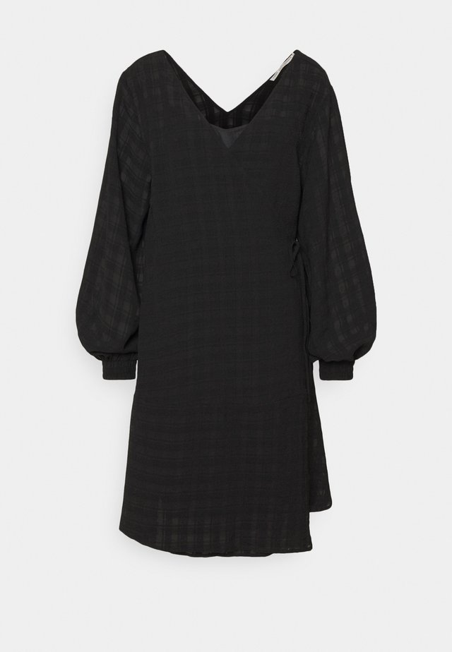LCRIVA WRAP DRESS - Day dress - pitch black