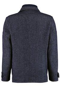 DNR Jackets - MIT DOPPELKRAGEN UND PRAKTISCHEN TASCHEN - Winter jacket - mottled dark blue - 1