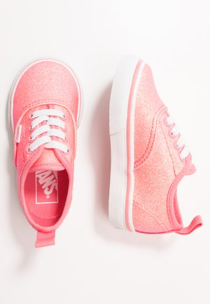 AUTHENTIC ELASTIC LACE - Mocassins - neon glitter pink/true white