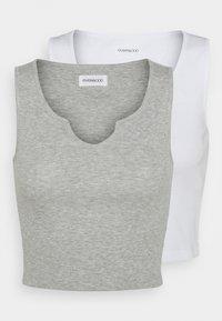 Even&Odd - 2 PACK - Top - light grey/white - 6