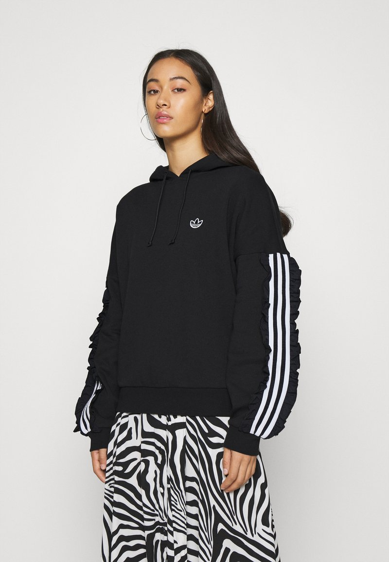 adidas Originals - BELLISTA SPORTS INSPIRED HOODED  - Hoodie - black