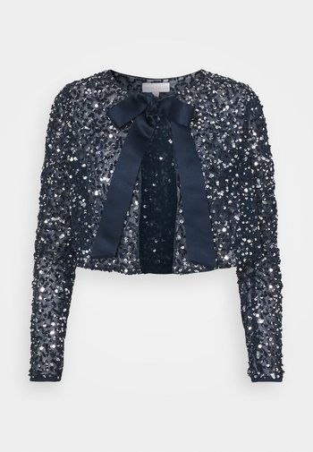 DELICATE SEQUIN JACKET WITH BOW