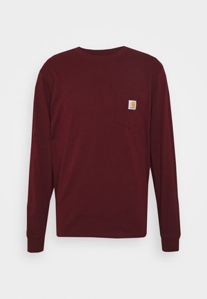 POCKET  - Camiseta de manga larga - bordeaux