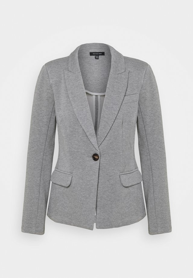 SINGLE BREASTED FITTED JACKET - Blazer - heather grey