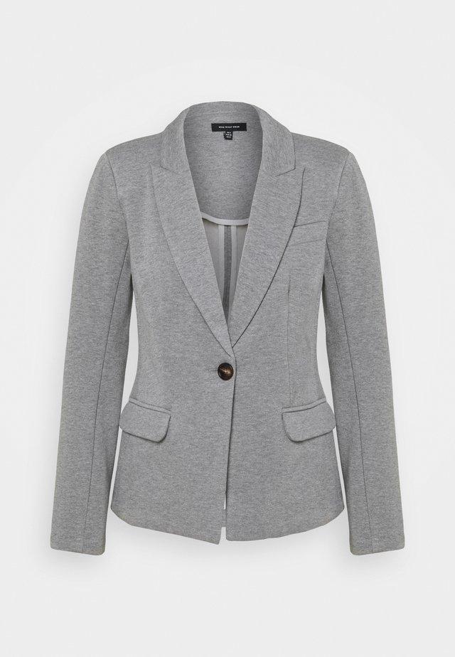 SINGLE BREASTED FITTED JACKET - Sportovní sako - heather grey