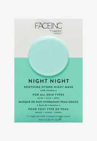 INC.redible - FACE INC NIGHT NIGHT SOOTHING HYDRO MASK 10ML - Face mask - 9325 neutral - 0