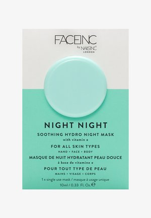 FACE INC NIGHT NIGHT SOOTHING HYDRO MASK 10ML - Face mask - 9325 neutral