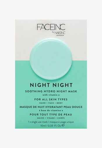 FACE INC NIGHT NIGHT SOOTHING HYDRO MASK 10ML