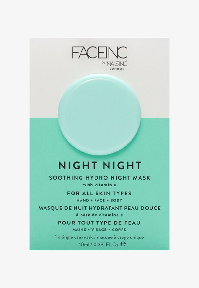 FACE INC NIGHT NIGHT SOOTHING HYDRO MASK 10ML - Masque visage - 9325 neutral