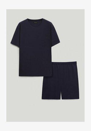 SET - Shorts - blue-black denim
