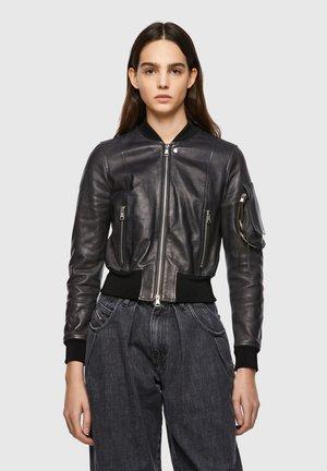 L-ELIA - Veste en cuir - black