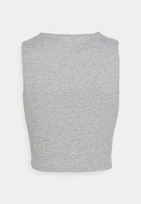 Pieces - PCBINE CROP 2 PACK  - Top - light grey melange/misty rose - 2