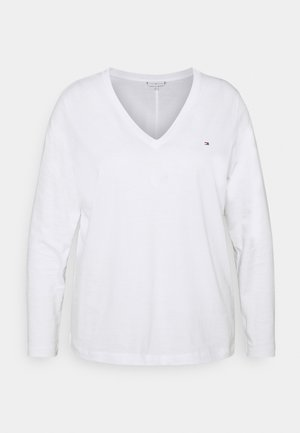 REGULAR CLASSIC - Long sleeved top - white