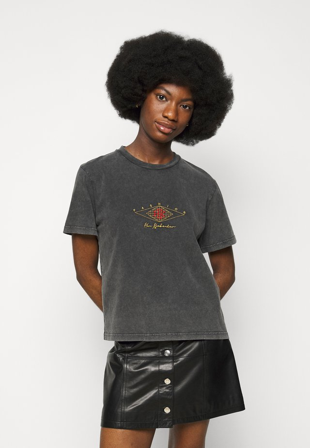 ARTWORK TEE - Print T-shirt - faded dark grey