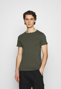 Replay - CREW TEE 3 PACK - Basic T-shirt - cold grey/ochre/military - 1