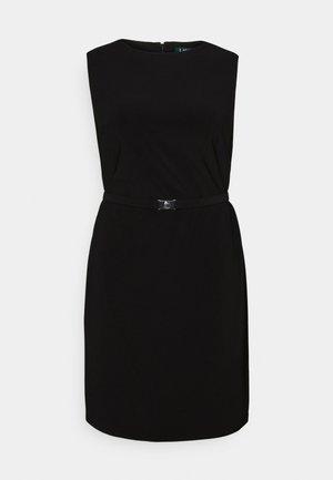 STIELER SLEEVELESS DAY DRESS - Jerseykjole - black