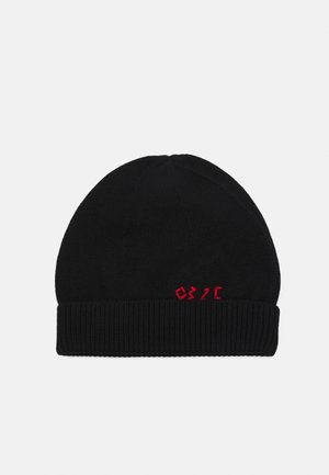 HAND REPAIRED BEANIE UNISEX - Adīta cepure - black