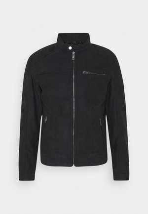 JJEROCKY JACKET - Faux leather jacket - jet black