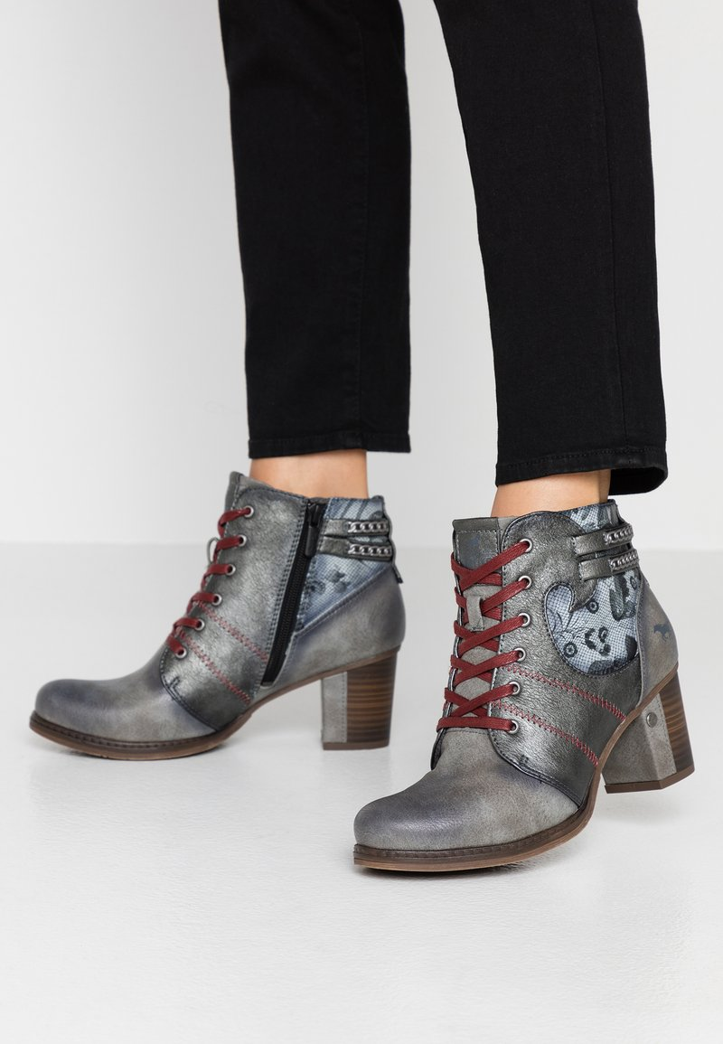 Mustang - Ankle boots - grau