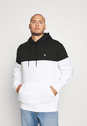 COLORBLOCK LOGO HOODIE UNISEX - Hoodie - black/bright white