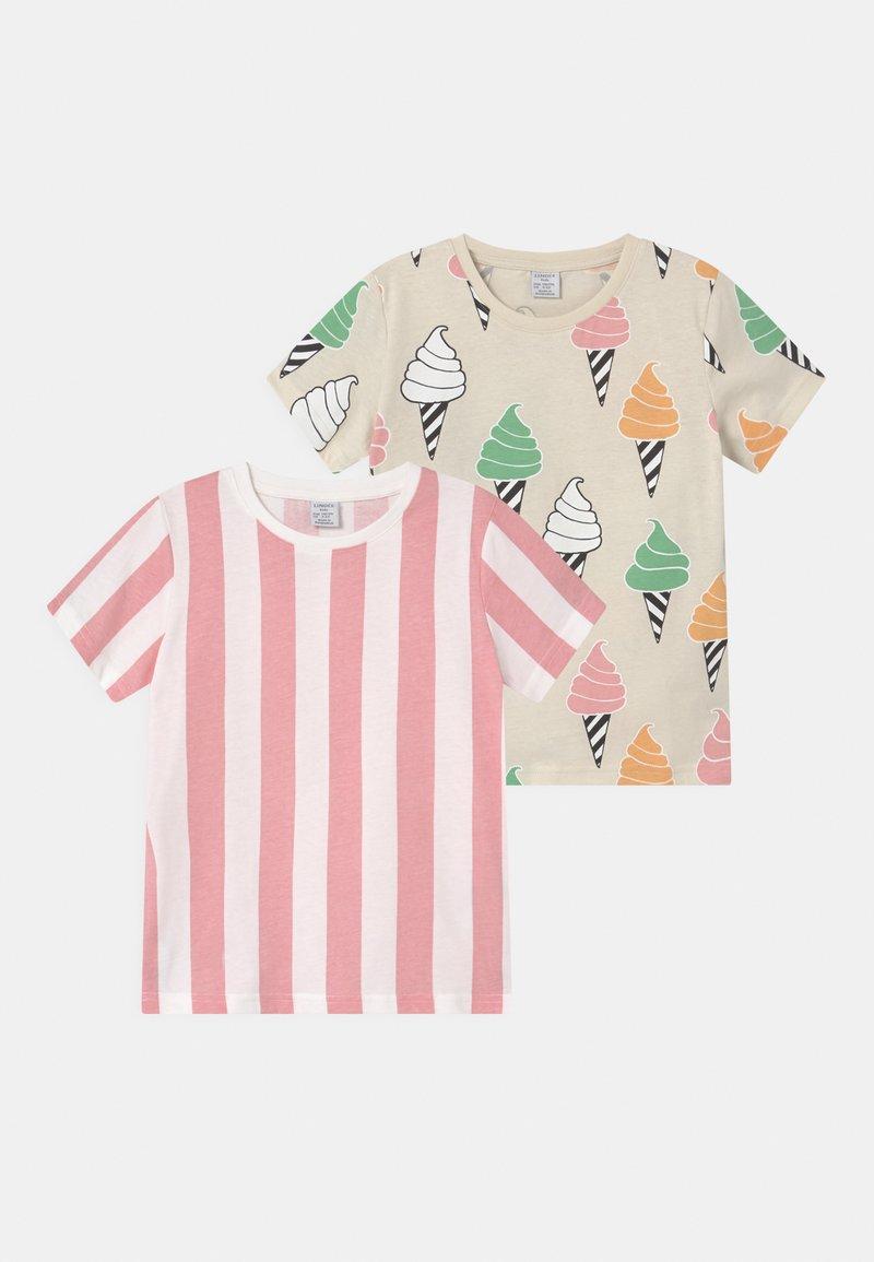 Lindex - MINI ICE CREAM 2 PACK UNISEX - T-Shirt print - light pink