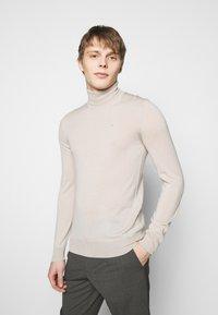 J.LINDEBERG - LYD TRUE - Stickad tröja - sand grey - 0