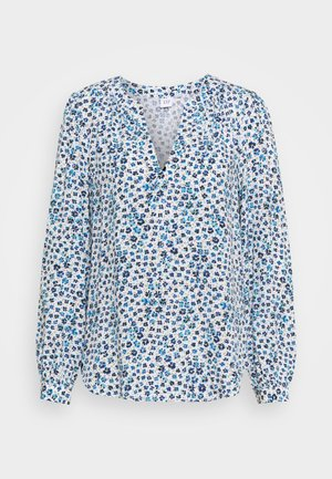 ZEN NECK - Long sleeved top - blue