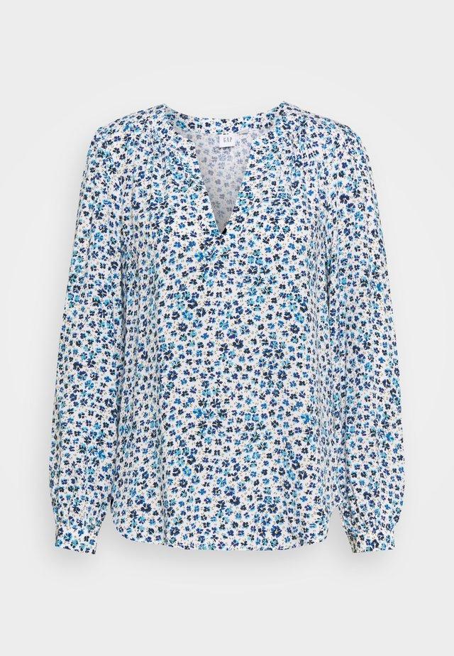 ZEN NECK - T-shirt à manches longues - blue