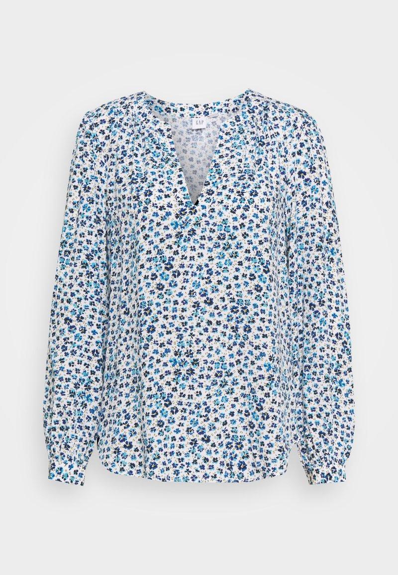 GAP - ZEN NECK - Long sleeved top - blue