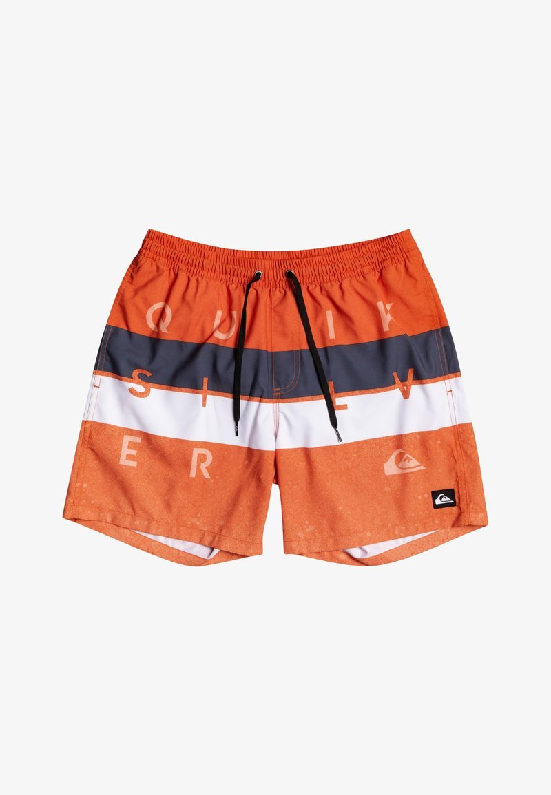 Quiksilver - WORD BLOCK VOLLEY YOUTH - Swimming shorts - pureed pumpkin