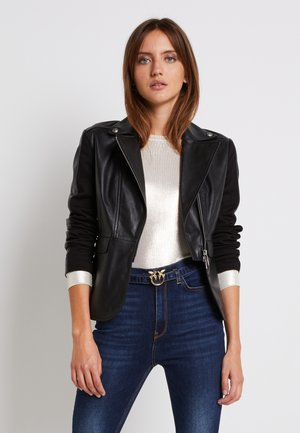 FRANCO JACKET - Veste en cuir - black