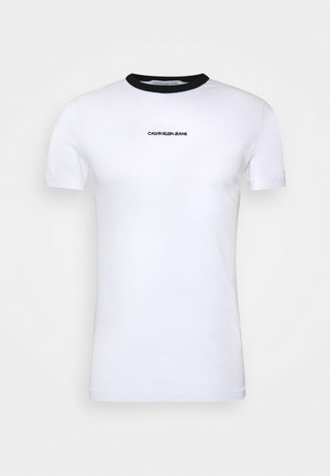 RINGER TEE - T-shirt print - bright white