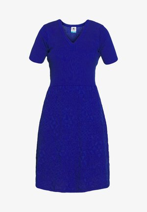 DRESS - Strikket kjole - blue