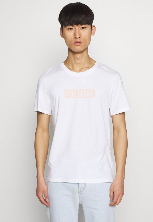 TED VOLTAIRE - T-shirts med print - blanc