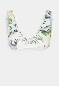 BLOOM ELTRI - Bikini top - bright white praslin