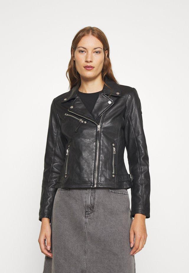PASJA - Leren jas - black