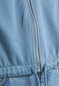 Weekday - MIRIAM ZIP HOODIE - Zip-up sweatshirt - blue - 5