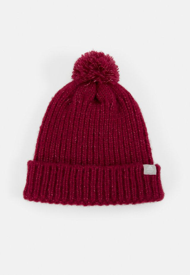 POM BEANIE - Gorro - power berry