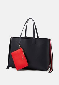 Tommy Hilfiger - ICONIC TOTE SIGNATURE SET - Shoppingveske - blue - 4