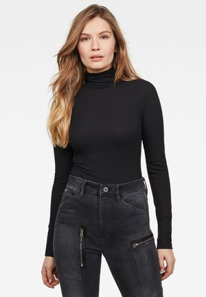 LECITE OPTIC SLIM TURTLE LONG SLEEVE - Jumper - dark black
