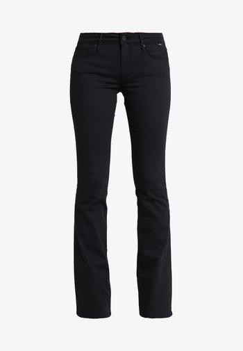 BELLA MID RISE - Bootcut jeans - double black