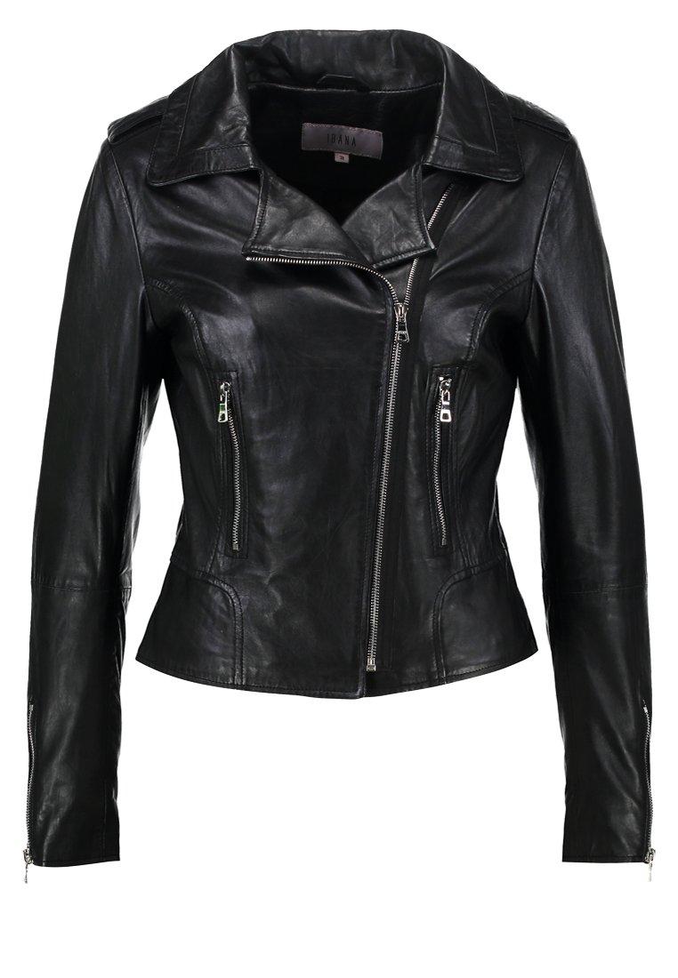 Ibana BEAR BLAZE - Veste en cuir - black/silver