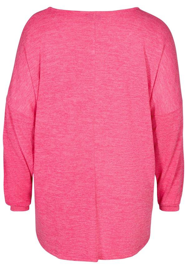 Zizzi LONG SLEEVE - Bluzka - pink/rÓżowy GKDZ