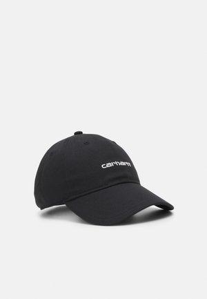 SCRIPT UNISEX - Cap - black/white